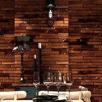 papel parede Vintage Brick Wallpaper 3D Home Decor Retro Brown Red Rollos de papel de pared para Shop Walls Decoración decoracao casa