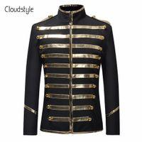 Cloudstyle 2018 outono primavera lantejoulas fase terno jaqueta homens party dress terno moda impressão digital traje casual drama blazer