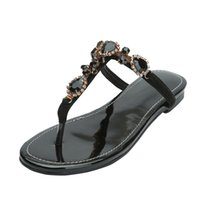 Kolnoo New Simple Sandalo donna T-strap Beading String Rhinstone Scarpe basse Casual Prom Fashion Sandali N006