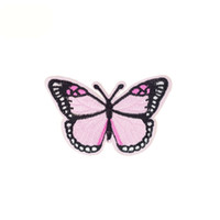 10pcs Butterfly patches hot badges for clothing iron embroid...