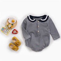 2019 baby clothes autumn and winter baby clothes navy collar...