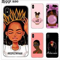 2BUNZ Melanin Poppin Aba Durumda iPhone 11 12 Mini Pro X XR XS Max Moda Siyah Kız Yumuşak TPU Telefon Kapak iphone 6 6 S 7 8 Artı