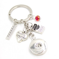 New Arrival DIY Interchangeable 18mm Snap Jewelry Snap Key C...