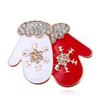 여성을위한 패션 양말 디어 타우 크리스마스 트리 브로치 남자 에나멜 라인 석 브로치 핀 크리스마스 새해 선물 쥬얼리