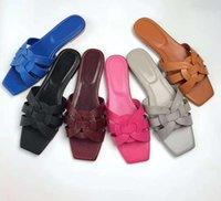 Mulheres mulheres sandálias feminino chinelo sapatos de couro genuíno mulher slides de verão com grão lagarto
