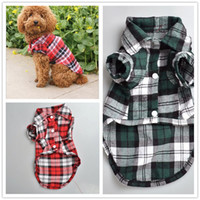 D96 pet dog plaid shirt summer clothes for dogs cute dog clo...