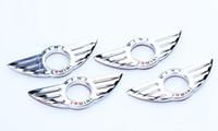 Eu AMO MINI Adesivo Emblema Asa Decoração Para BMW MINI Cooper R55 R57 R57 R58 R59 Maçaneta Da Porta criativo