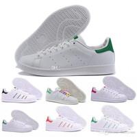 b6faae9b53734 Adidas 2018 de calidad superior mujeres hombres nuevos stan zapatos moda  smith sneakers casuales zapatillas de deporte de cuero