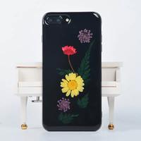 Ultra Slim Soft TPU Silicone Fashion Fundas para iPhone 6, Colorido Real Presionado Flor Diseño Jelly Funda protectora