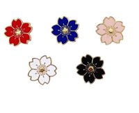 2018 Tiny Colorful Flower Badge Brooch Pins Lapel pin Flower...