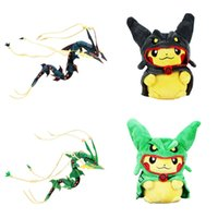 Hot ! High Quality Pikachu Cosplay XY Rayquaza Plush Doll St...