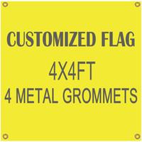 GroßhandelsDigitaldruck fertigte Flaggen-Fahnen-Fliegen-Entwurf 4x4ft 100D Polyester-Fahnen mit 4 Metallösen besonders an