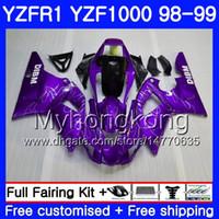 Kroppsarbete för Yamaha YZF R 1 YZF 1000 Lila Silver YZF1000 YZFR1 98 99 Ram 235HM.18 YZF-1000 YZF-R1 98 99 Body YZF R1 1998 1999 Fairing