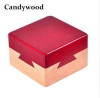 Candywood Hohe qualität Holz Magic Box Puzzle spiel Luban schloss IQ spielzeug Für Kinder Erwachsene Lernspielzeug Gehirn Teaser Spiel