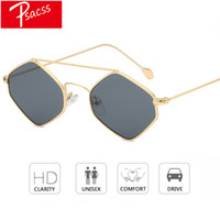 Psacss 2018 Small Rhombus Frame Sunglasses Women Men Metal F...