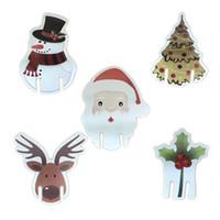 크리스마스 레드 와인 카드 크리스마스 모자 와인 글라스 카드 휴일 장식 크리스마스 와인 글라스 컵 장식