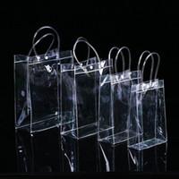 Sacs à main en PVC Transparent Sac cadeau Cosmétiques de maquillage Emballage universel Sacs en plastique transparent 10 tailles pour choisir