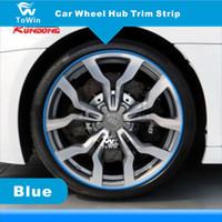 Bande de garniture de moyeu de roue de voiture DIY, bande de garniture colorée pour moyeu de roue automatique, modification pour voitures universelles