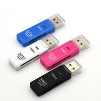 4 farbe 2 In 1 USB 3.0 SD Micro SDXC SDHC Speicherkartenleser TF Trans-flash-karte Adapter Konverter Werkzeug 150 teile / los