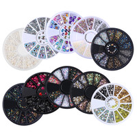 1 Box Mixed Color Rhinestones 3D Nail Decoration Metal Studs...