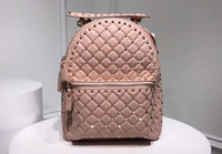 AAA 26cm Spike Backpack Studded Nylon Rucksack Quilted with ...