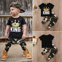 Summer Boys Clothing Sets baby boy clothes short sleeve T- sh...