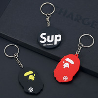 Soft Rubber Keychain promotion PVC Key Covers toys hang acce...
