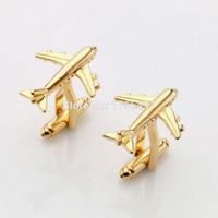 Lepton Fashion Styling aereo gemelli per la Mens caldo di vendita reale Tie clip Aereo Gemelli piano di disegno gemelli per gli uomini regali di gioielli