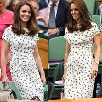 New Kate Middleton Princess Vintage Print Dress Fashion O-Neck Short Sleeve Pleated Dresses