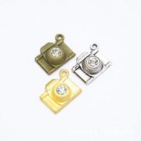 120 PCS/lot Antique Silver Bronze Gold Alloy Metal Camera Charms Pendant 21*16MM fit DIY craft