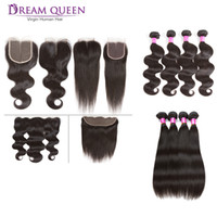 Brazilian Virgin Hair 4 Bundles Straight Body WaveWith 13x4 ...