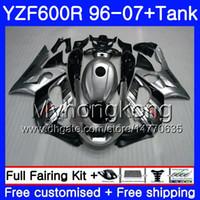Karosserie + Glanz Silber heißer Tank für YAMAHA Thundercat YZF600R 96 97 98 99 00 01 229HM.15 YZF-600R YZF 600R 1996 1997 1999 1999 2000 2001 Verkleidung