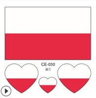 2018 Football World Cup Poland Flag Tattoo Body Stickers 6cm...