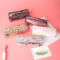 New Gold Makeup Bags Borsa geometrica per Ladies Pouch Women Portable Zipper Cosmetic Bag Pen Pencil Case Organizer