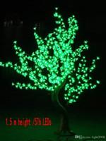 Имитация дерева полюс LED Cherry Blossom Tree 1,5 ~ 2,5 м Высота 110 220 В Семь Цветов для Варианта Непромокаемые Наружного Использования Drop garden decoratio