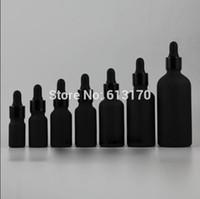 5ml, 10ml, 15ml, 20ml, 30ml, 50ml, 100ml Bouteille en verre givré noir avec compte-gouttes, huile essentielle vide