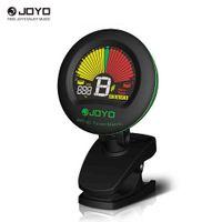 Joyo JMT-01 Clip-on موالف كهربائي المسرع المدمج في شاشة ملونة هيئة التصنيع العسكري للغيتار لوني باس الكمان القيثارة