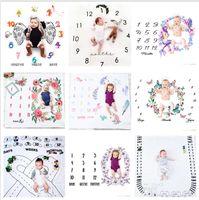 29 Types Nouveau-né Baby Milestone Couverture Photographie Prise de vue Photographie Personnes Enfant Towdler Photo Couvertures de fleurs pour bébé Bhbz12