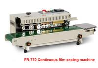 Máquina contínua automática Plastic Bag Sealing com Codificação Função da impressora FR-770 Automatic Plastic Bag Calor Foil Bag Banda Sealer