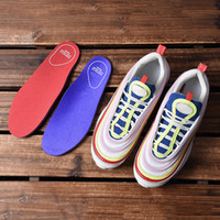 97 OG running shoes women blue red yellow white black new de...