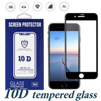 Full Glue Tempered Glass For Iphone XS Max XR 8 Plus 10D Cur...