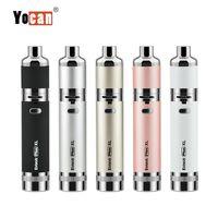 원래 Yocan 진화 플러스 XL Vape 펜 기화기 왁 스 펜 스타터 키트 1400mAh 전자 담배 배터리 쿼드 Quatz 막대 코일 킷을 키트