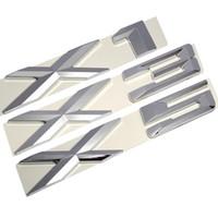 3d البلاستيك كروم شعار الفضة الذيل إلكتروني شعار شارة ملصق الديكور لسيارات bmw x1 x3 x5 x6 e83 f25 gt اكسسوارات التصميم