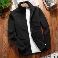 Jacket Men Solid Turn Down Collar Zipper Design Slim Fit Aut...
