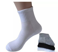 Mens Casual Ankle Mesh Socks Cotton Solid Color Socks Male F...