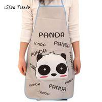 Le donne impermeabilizzano gli animali del fumetto Panda cucina bavaglino bavaglino senza maniche vita anti-olio Bib cucina cucina cottura accessorio