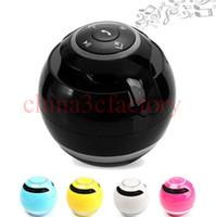Mini colorido Bola Portátil Alto-falantes Sem Fio Bluetooth Super Bass Stereo Handsfree subwoofer Mic Cartão TF Luz LED