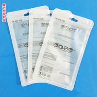 11 * 19 cm 12 * 21 cm 5.5 polegadas branco Zip lock acessórios do telefone móvel caso fone de ouvido saco de embalagem de compras PP PVC Poly saco de embalagem de plástico DHL