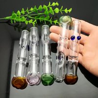 Bocal de sucção de vidro de filtro de boca plana Bongos de vidro de atacado Queimador de óleo Tubos de água de vidro Plataformas de petróleo Plataformas de fumar