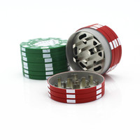 40 ملليمتر 3layers البلاستيك رخيصة بوكر رقاقة نمط عشبة عشبية التبغ طاحونة المطاحن التدخين الأنابيب الملحقات الأداة الحمراء الأخضر الأسود